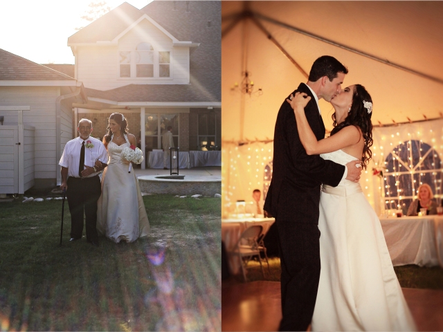backyard wedding sunflare and first dance the woodlands tx