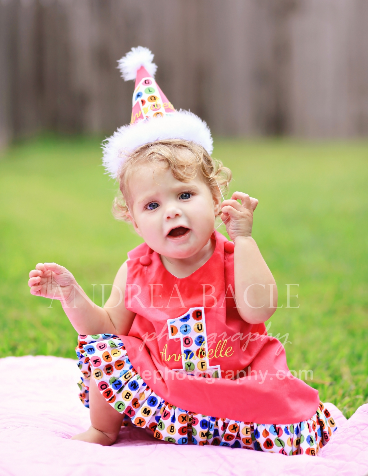 sweet baby girl is one year old The Woodlands TX lifestyle