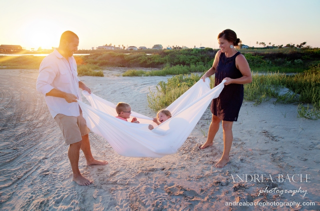 beach destination family photo shoot