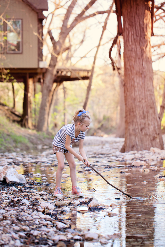 girl with her stick new braunfels destination photographer