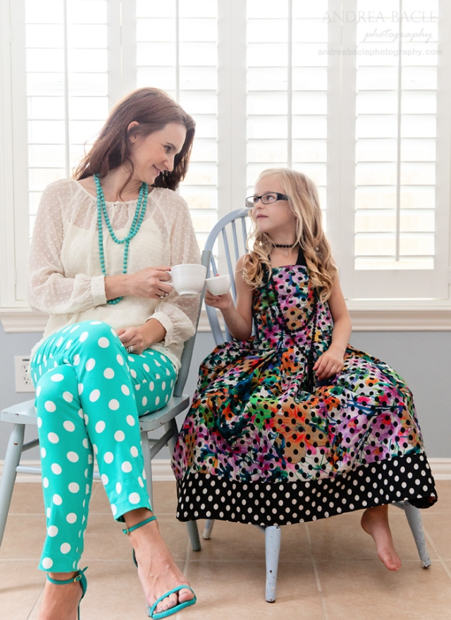 mommy and me tea party old town spring polka dots