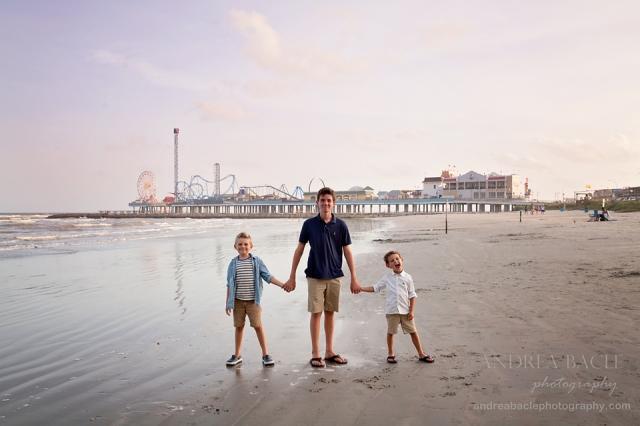 galveston three brothers before sunset pleasure pier