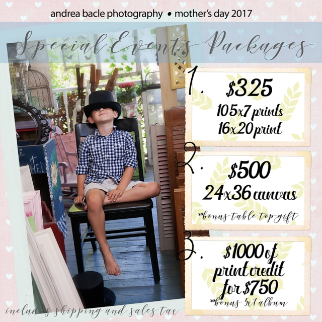 mother's day photography sessions