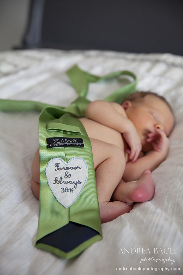 wedding tie newborn