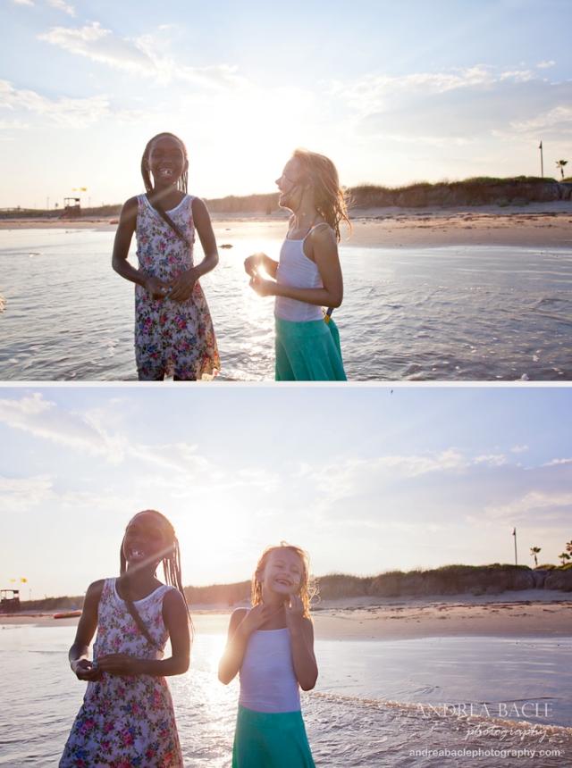 best friends beach session galvy