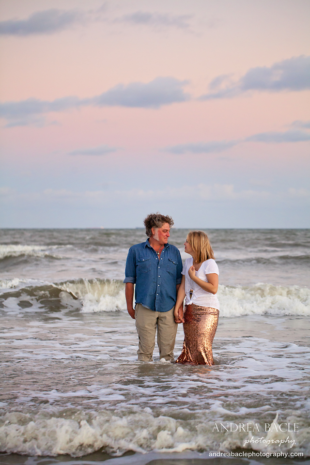 galveston beach couple in love