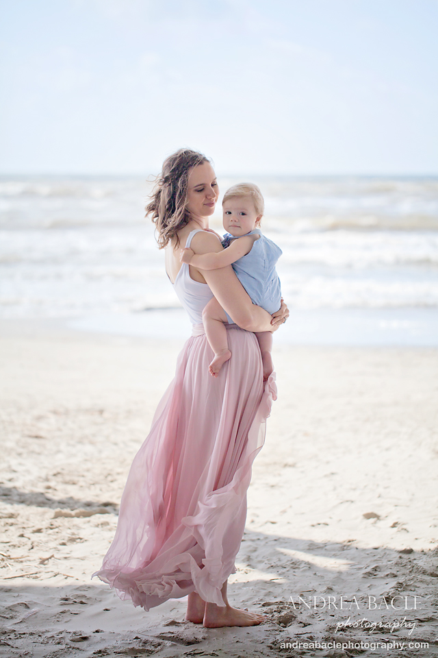 beach sessions one year old mommy and me galveston