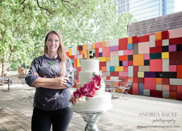 discovery green andrea bacle photography cake with disco stand