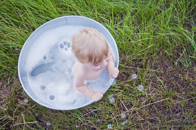bubble bath in a field texas
