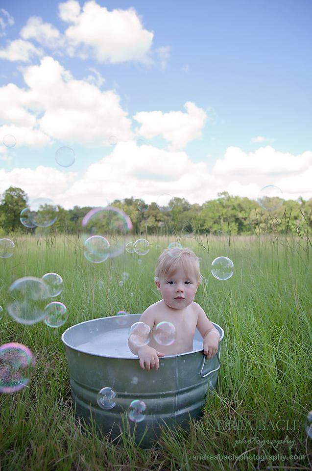 bubbles everywhere first year birthday boy