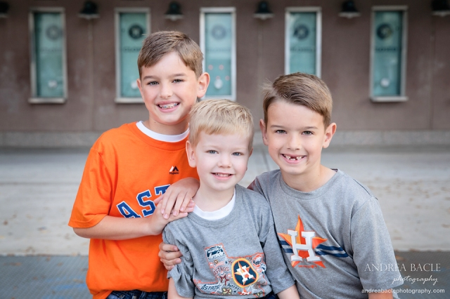 houston tx christmas card three boys let's go astros