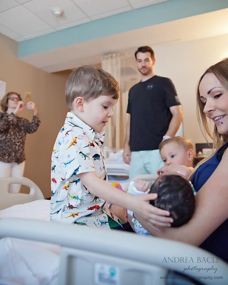 big brother newborn hospital session