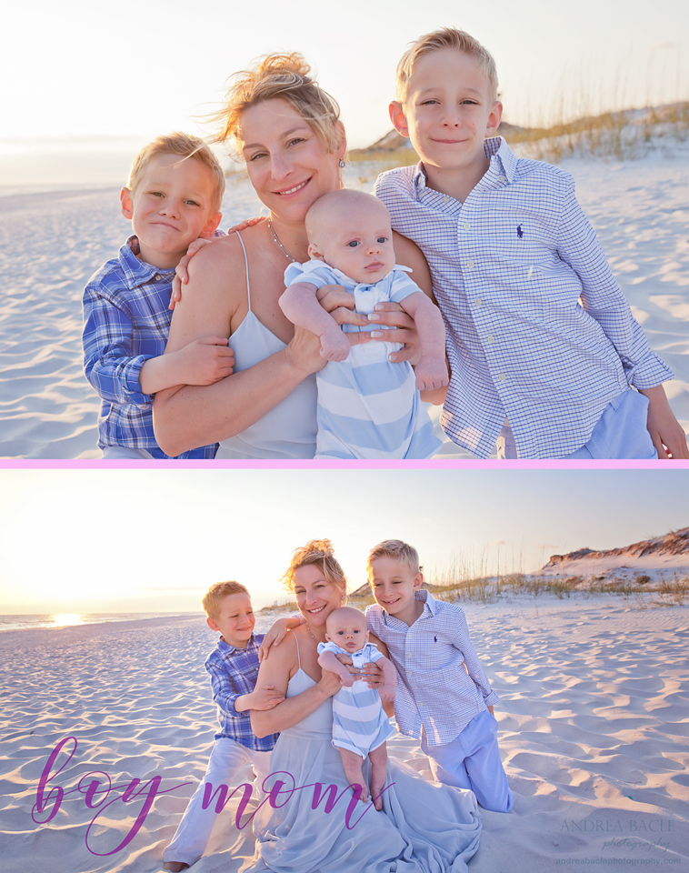 boy mom beach sessions andrea bacle photography