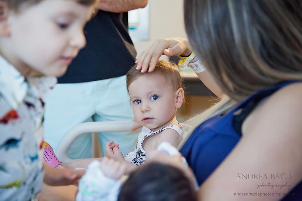 little sister big sister newborn hospital session