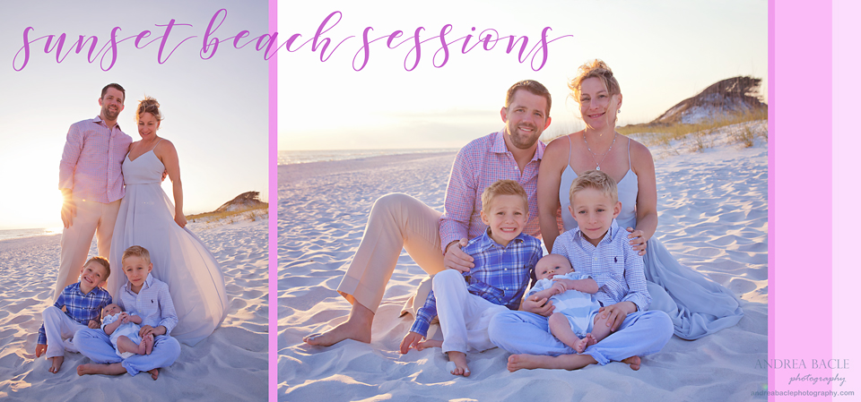 sunset beach sessions andrea bacle photography