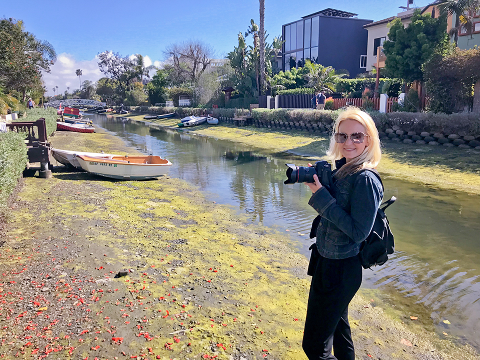 andrea bacle in the venice cali canals