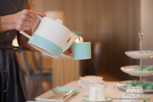 color block tiffany tea set andrea bacle photography the woodlands